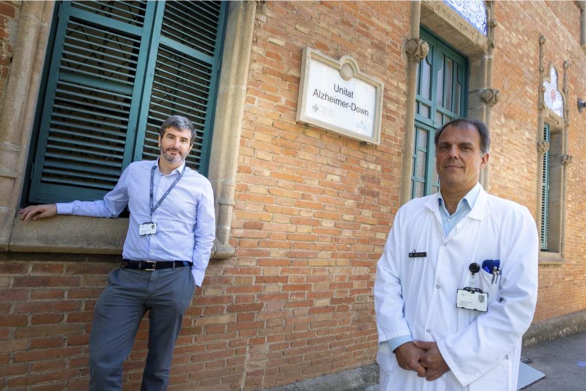 Juan Fortea, Jefe de la Unidad Alzheimer Down - Albert Lleo Bisa Director de la Unidad de Memoria. ambos del Servicio de Neurología Hospital Sant Pau. (Foto: Jaume Cosialls)