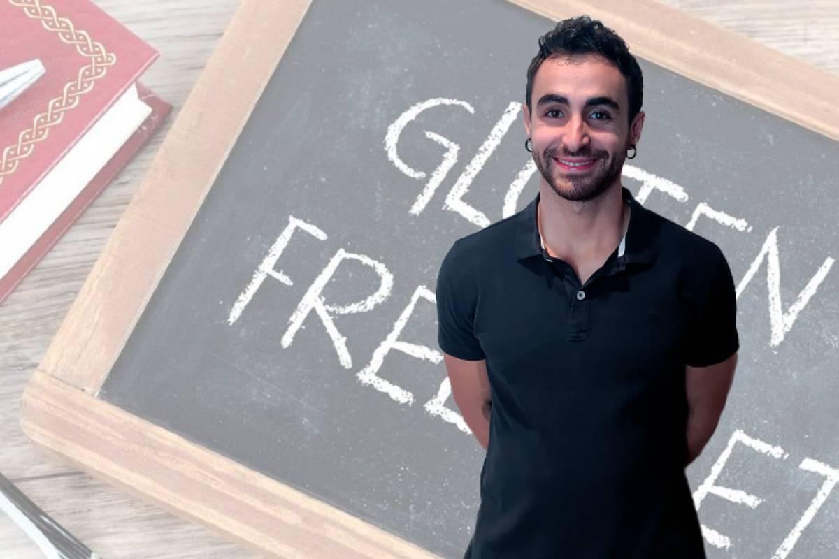 Aner Cardo, coautor de la revisión de estudio sobre las dietas sin gluten. Foto: Oficina de Comunicación de la UPV/EHU.