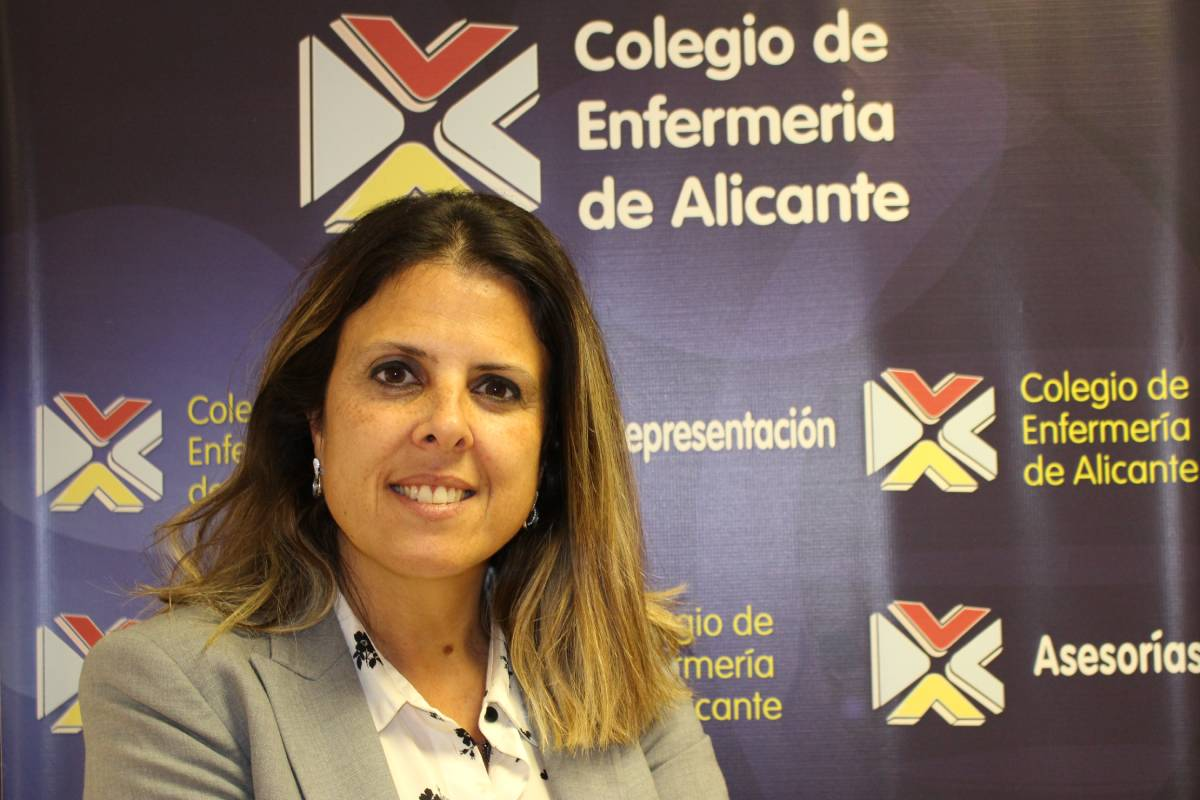 Noelia Rodr�guez, vocal IV del Colegio de Enfermer�a de Alicante.