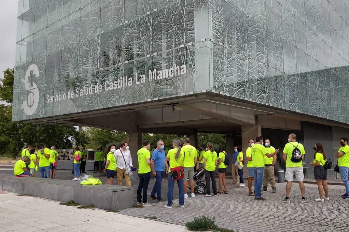 Paro de personal de tecnolog�as de la información del Sescam en su primer d�a de huelga indefinida de este 6 de septiembre.