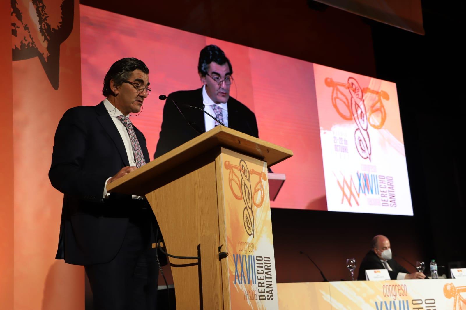 Juan Abarca Cidón, presidente del Grupo HM Hospitales, durante su intervención en la apertura del XXVII Congreso de Derecho Sanitario.
