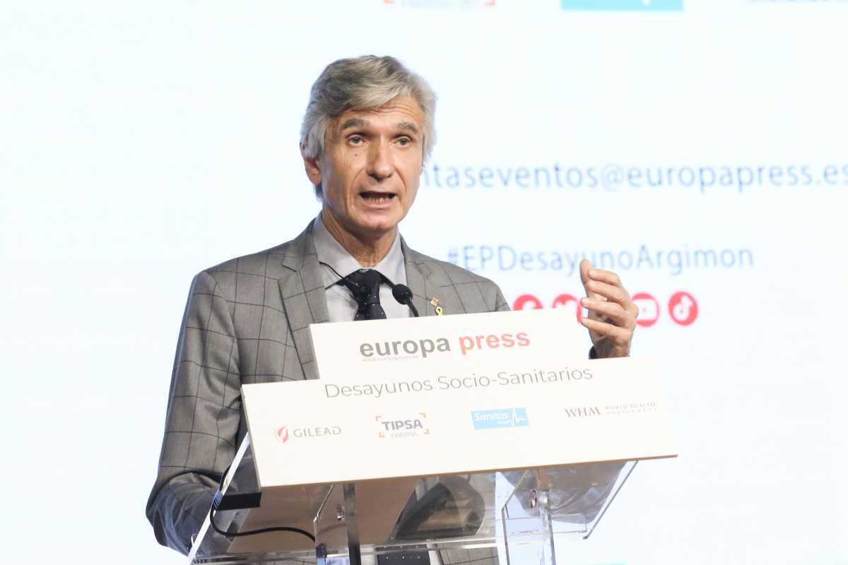La conferencia de Argimon coincide con la entrada del proyecto de presupuestos del Estado para 2022 en el Congreso de Diaputados. Foto: Europa Press