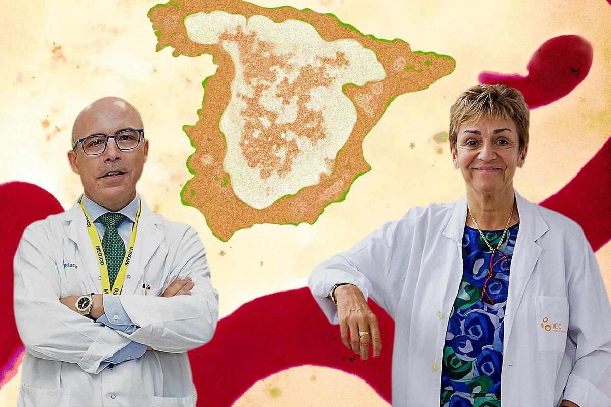 Fermín Sánchez-Guijo, vicepresidente electo de la ISCT, y Anna Sureda, presidenta electa de la EBMT.