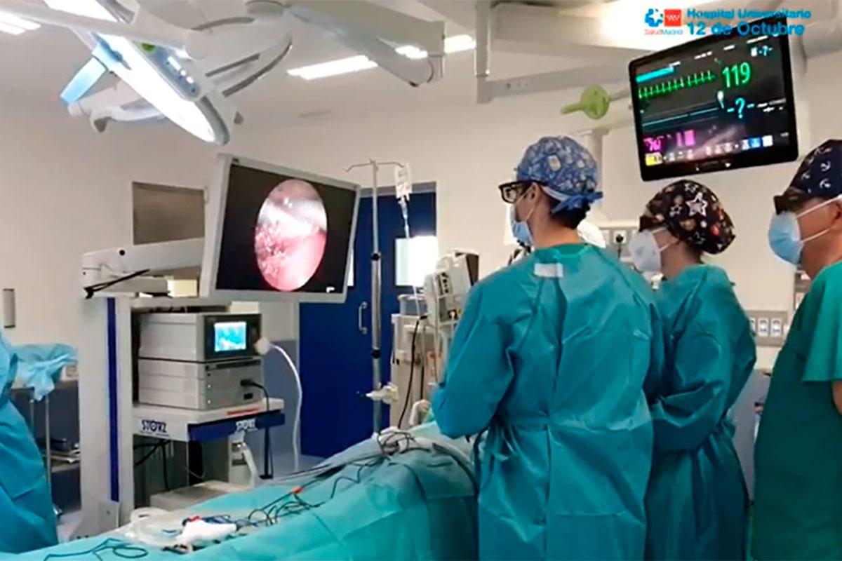 Laparoscopia 3D en lactantes en el Hospital 12 de Octubre.