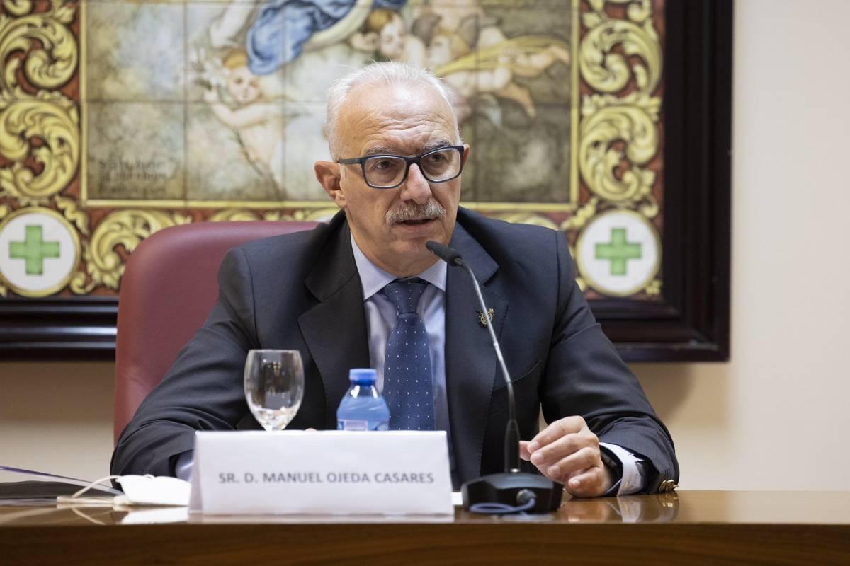 Manuel Ojeda Casares, vicepresidente del COF de Sevilla, el pasado 6 de octubre en las I Jornadas Farmacéuticas Veterinarias del COF.