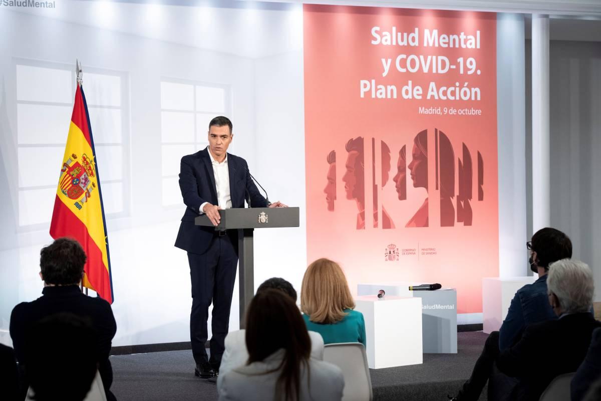 Pedro Sánchez, en la presentación del Plan de Acción para la Salud Mental. Foto: EFE.