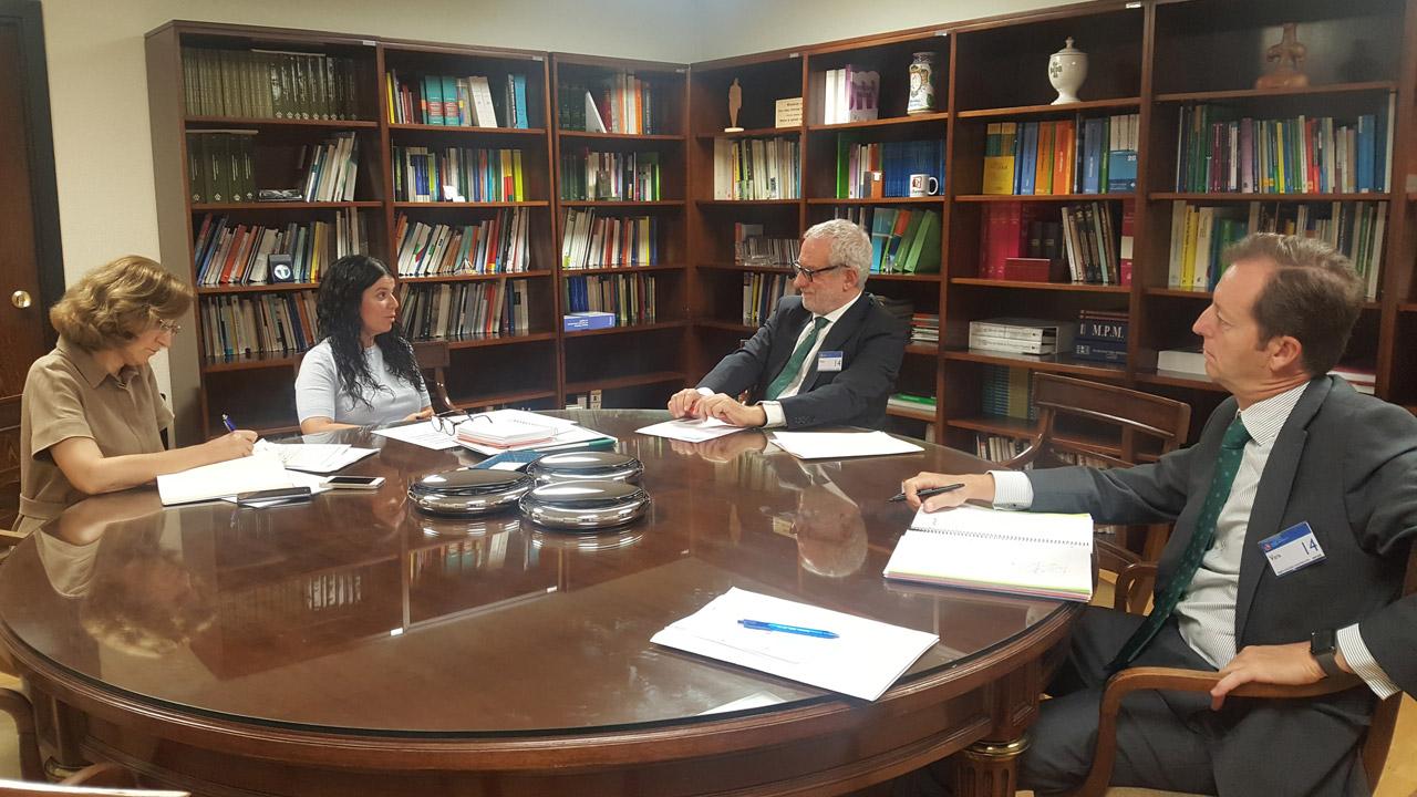 María Luisa García-Vaquero, Patricia Lacruz, Eladio González Miñor y Miguel Valdés.