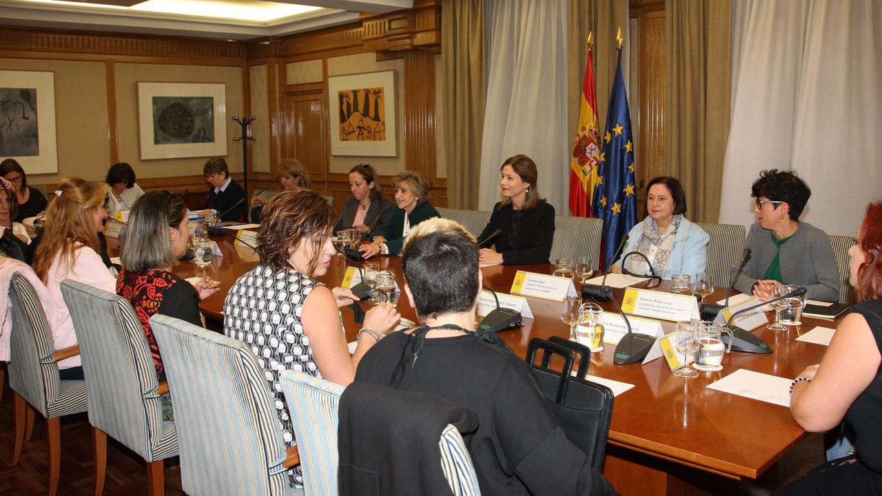 Encuentro de la ministra de Sanidad, María Luisa Carcedo, con las principales asociaciones de afectadas por el dispositivo anticonceptivo 'Essure'.