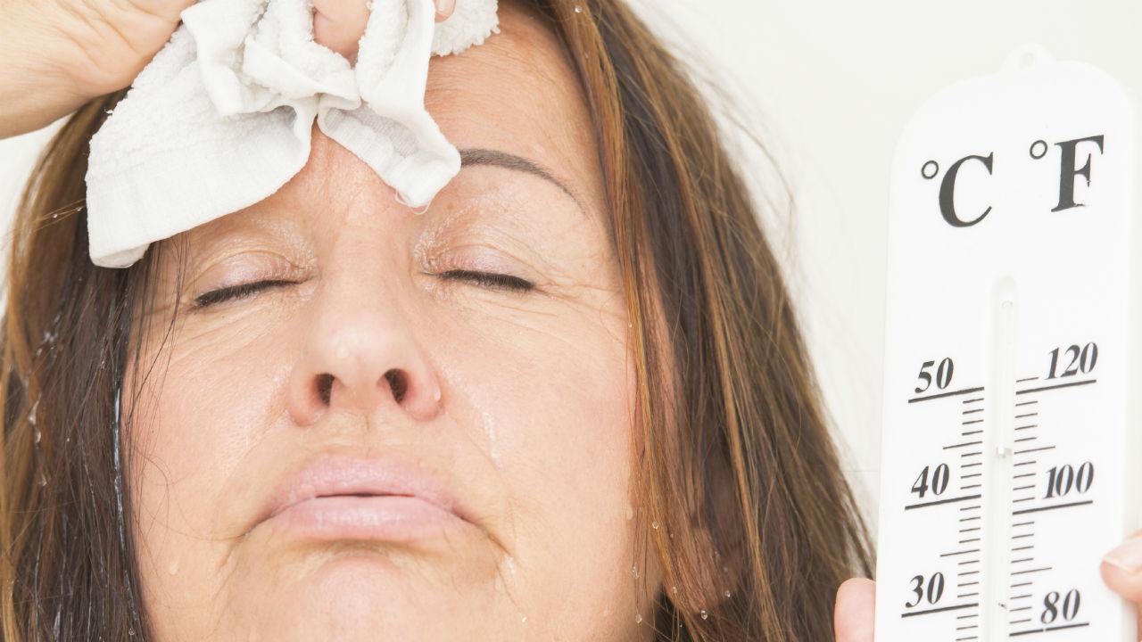 Los sofocos son comunes en la menopausia.