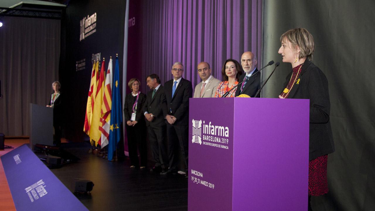 Alba vergés, consejera de Salud de Cataluña, durante la inauguración de Infarma 2019.