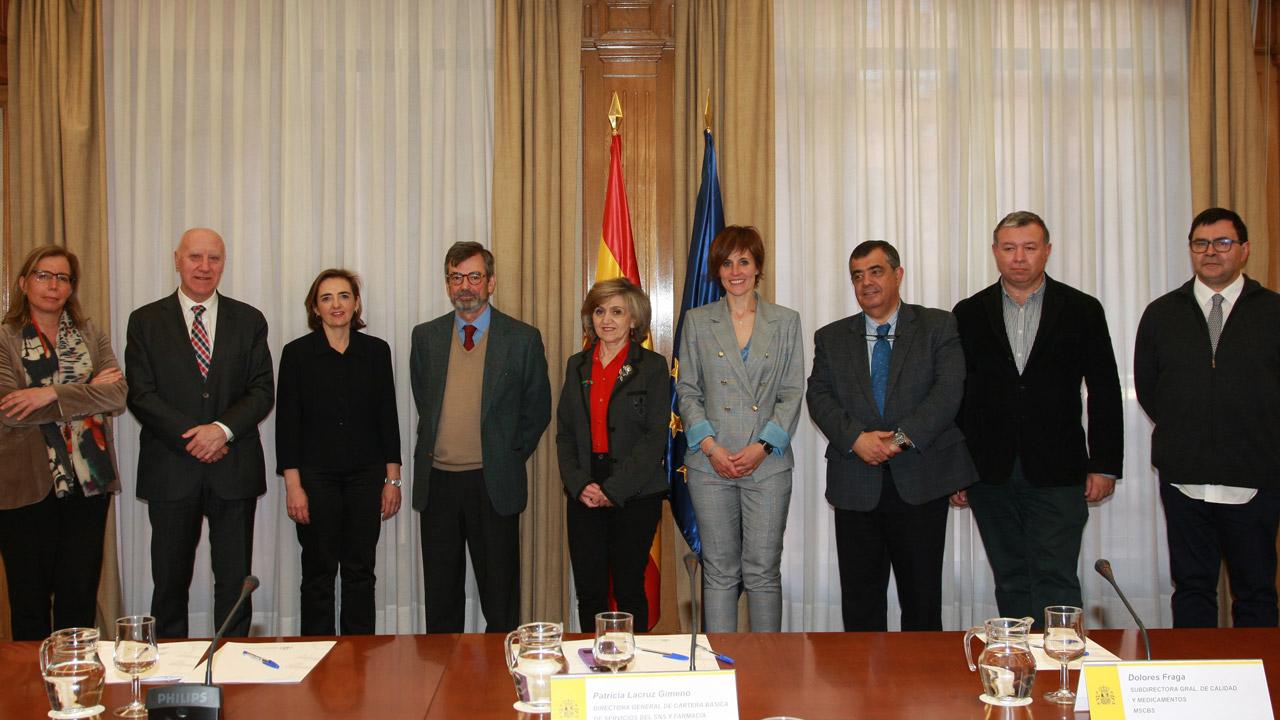 Ana Clopès, Faustino Blanco, Ana Ortega, Felix Lobo, María Luisa Carcedo, Marta Trapero, Roberto Sabrido, Emilio Alegre y Jaume Puig.