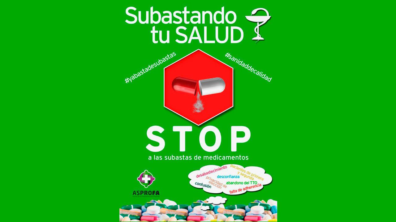 Póster de la campaña '#yabastadesubastas'.