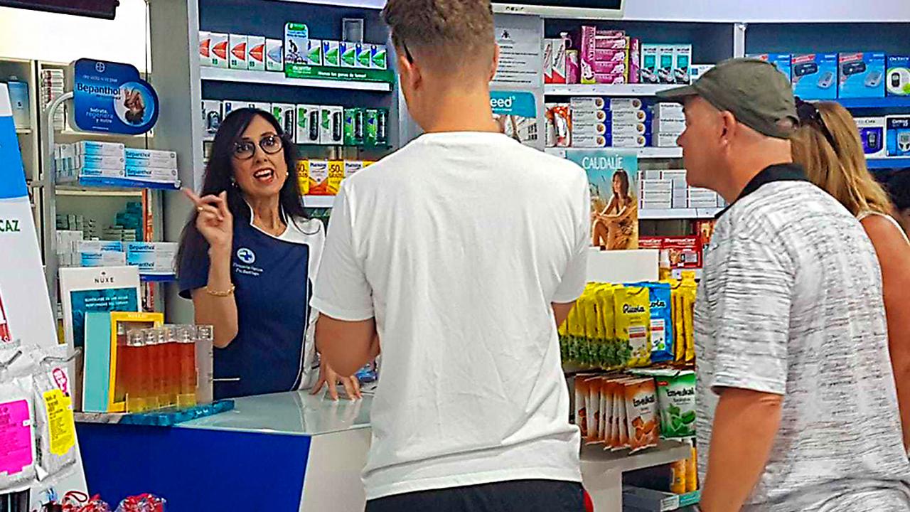 Farmacéutica en en Puerto Santiago (Tenerife)