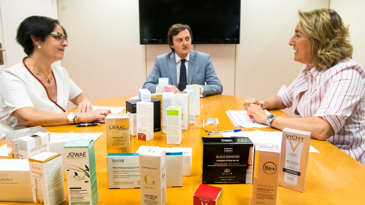 Lucero, Muret y De las Heras, en la reunión que mantuvieron el pasado julio en la sede de CF.