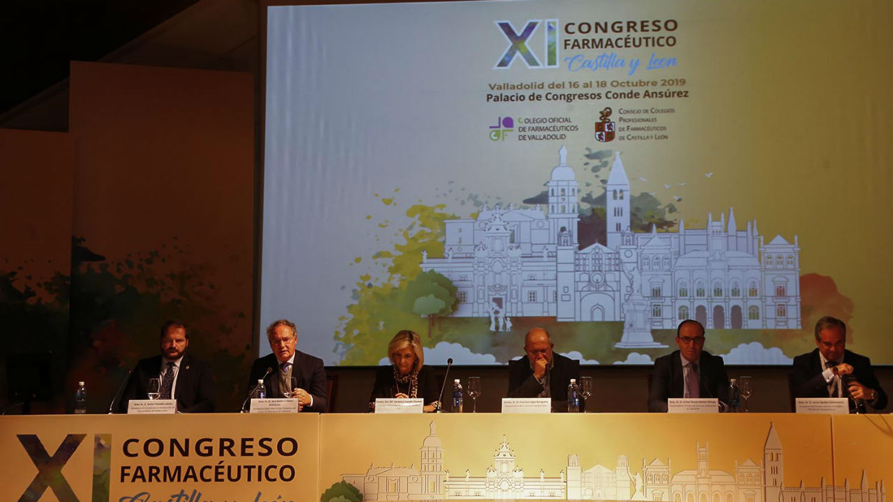 Acto de inauguración del XI Congreso de Farmacia de Castilla y León.