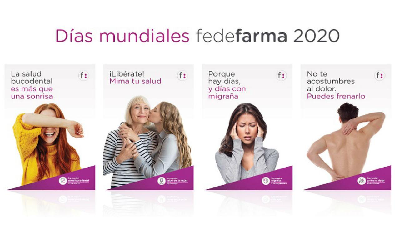 Campañas sanitarias articuladas por Fedefarma, con motivo de los días mundiales.